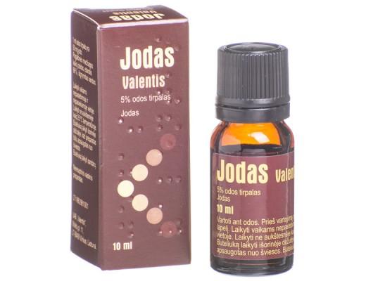 Jodas Valentis 50mg/ml odos tirpalas 10ml, N1