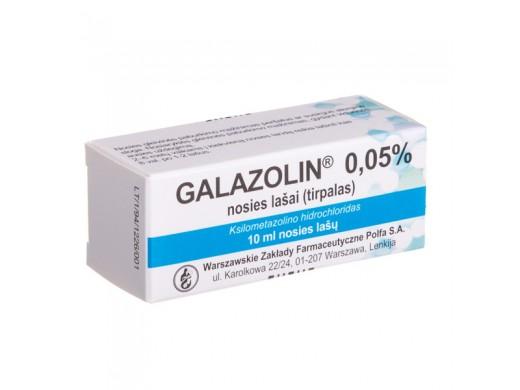 Galazolin 0.05% nosies lašai, tirpalas 10ml, N1