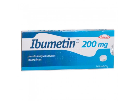 Ibumetin 200mg plėvele dengtos tabletės, N10