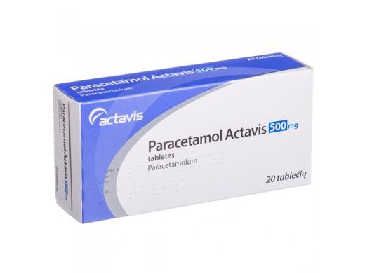 Paracetamol Actavis 500 mg tabletės N20