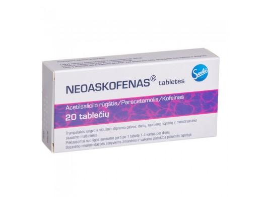 Neoaskofenas tabletės, N20