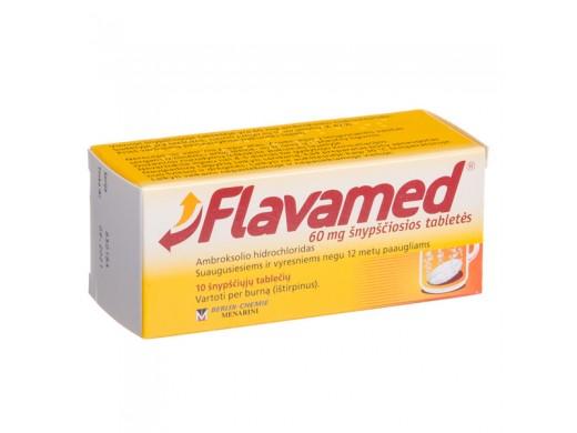 Flavamed 60mg šnypščiosios tabletės, N10