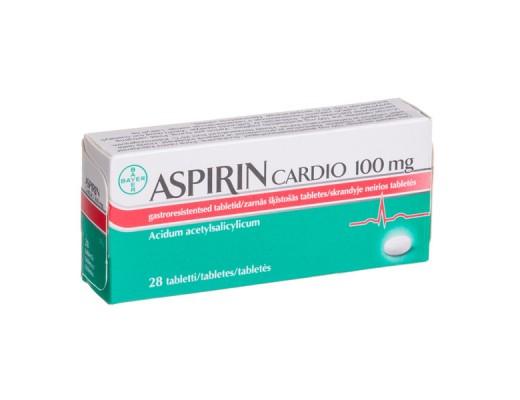 Aspirin Cardio 100mg skrandyje neirios tabletės, N28