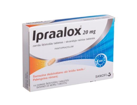 Ipraalox 20mg skrandyje neirios tabletės, N14