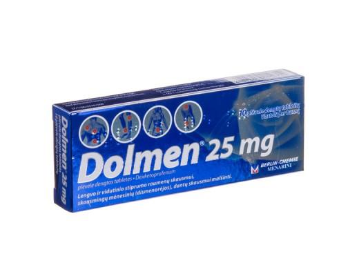 Dolmen 25mg plėvele dengtos tabletės, N10