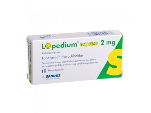 Lopedium Express 2mg kapsulės, N10