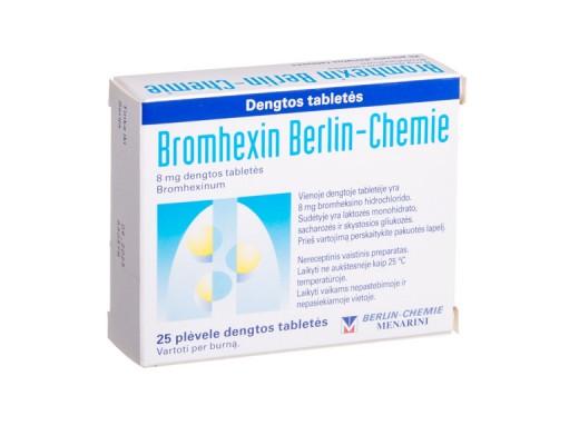 Bromhexin Berlin-Chemie 8mg dengtos tabletės, N25