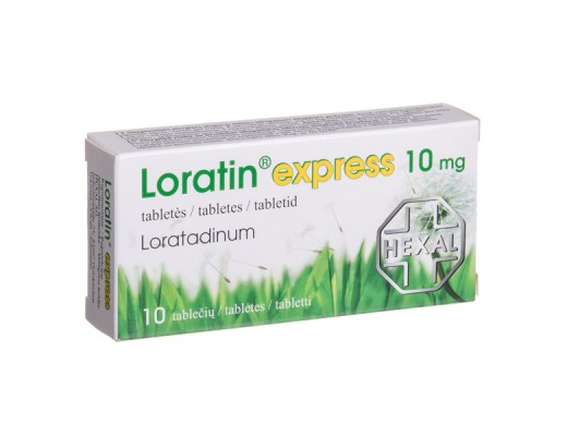 Loratin express 10mg tabletės, N10