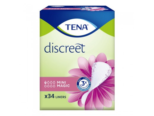 TENA Discreet Mini Magic N34 (mot. įklotai 0.5 laš.)