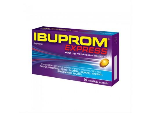 Ibuprom Express 400mg minkštosios kapsulės, N20