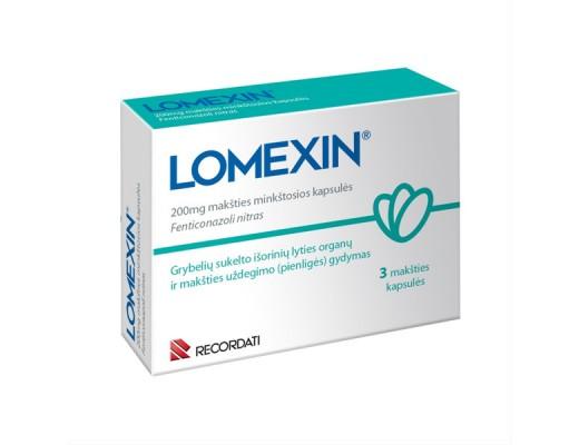 Lomexin 200mg makšties minkštosios kapsulės, N3