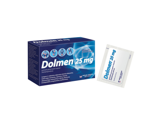 Dolmen 25mg granulės geriamajam tirpalui, N10
