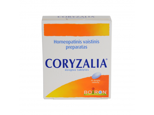 Coryzalia dengtos tabletės, N40