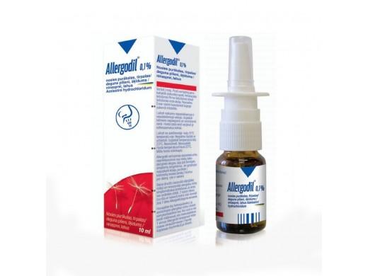 Allergodil nosies purškalas, tirpalas 10ml, N1