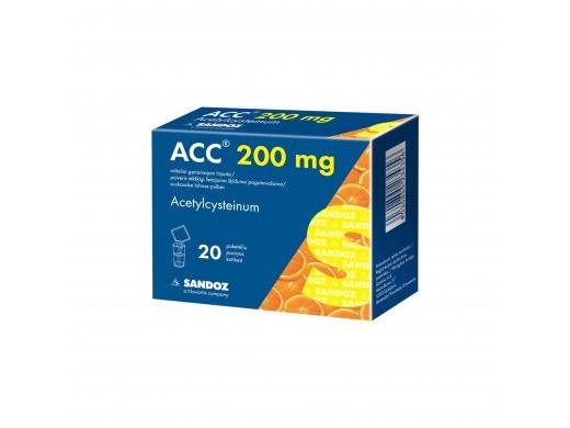 ACC, 3 g, 200 mg, milteliai geriamajam tirpalui, N20