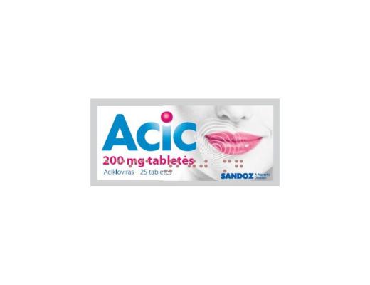 Acic 200mg tabletės N25