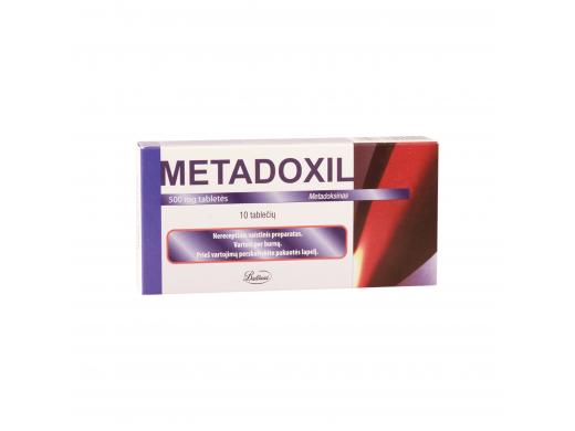 Metadoxil 500mg tabletės, N10