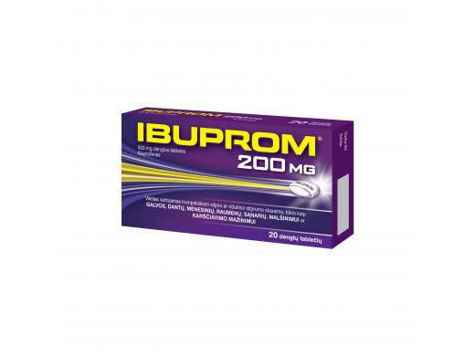 Ibuprom 200mg dengtos tabletės, N20