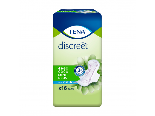 TENA Discreet Mini Plus Wings N16 (mot. paketai su sparneliais 2.5 laš.)