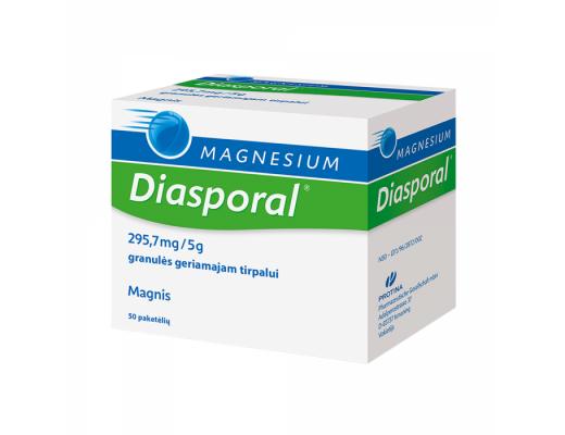 Magnesium - Diasporal 295.7mg/5g granulės geriamajam tirpalui, N50