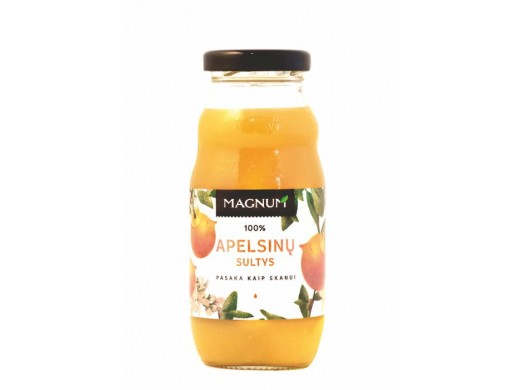 Apelsinų sultys 100% Magnum 200 ml.