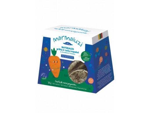 Natūralūs grikių, lęšių trapukai su chia ir morkomis nuo 8 mėn., 30 g.