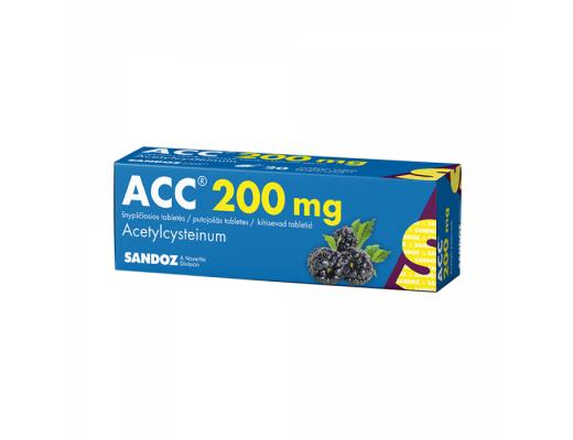 ACC, 200mg, Šnypščiosios tabletės, N20
