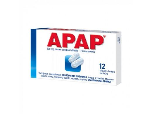 APAP 500mg plėvele dengtos tabletės, N12