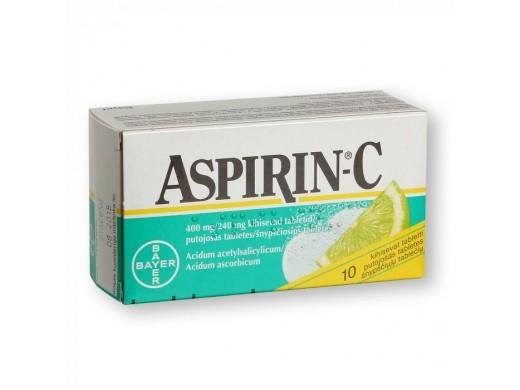 Aspirin-C 400mg/240mg šnypščiosios tabletės, N10