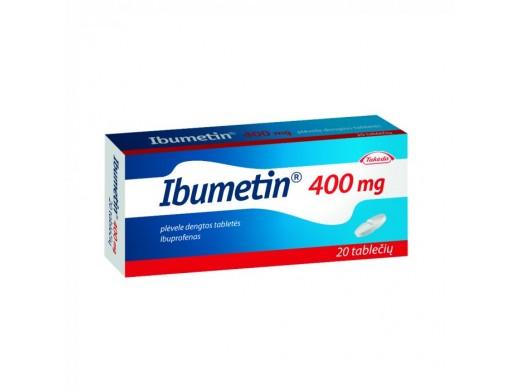 Ibumetin 400mg plėvele dengtos tabletės, N20