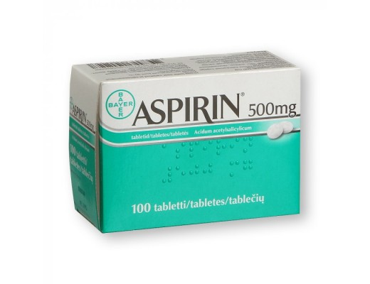 Aspirin 500mg tabletės, N100