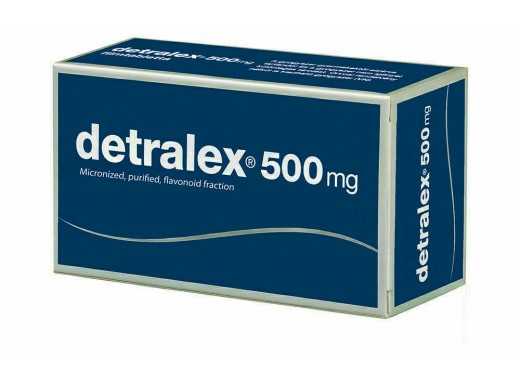 Detralex 500mg plėvele dengtos tabletės, N120