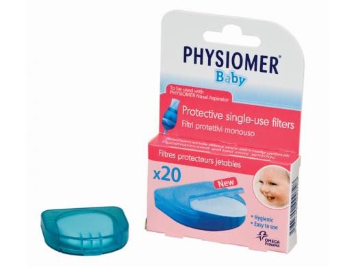 PHYSIOMER vienkartiniai filtrai kūdikių nosies gleivių atsiurbikliui N20