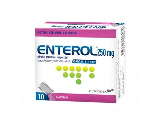 Enterol 250mg milteliai geriamajai suspensijai paketėliai, N10