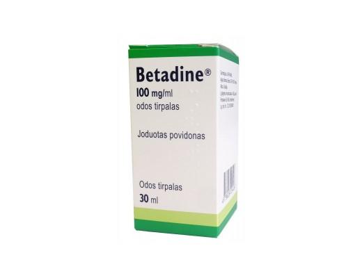 Betadine 100mg/ml odos tirpalas, 30ml