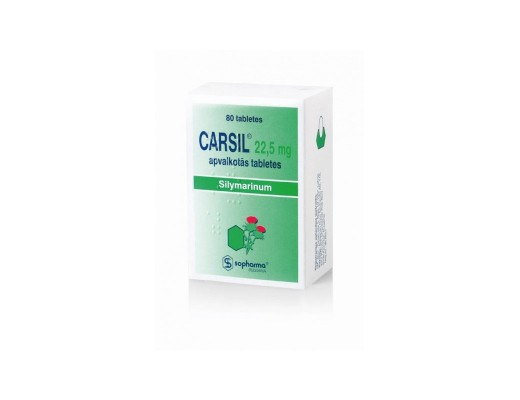 Carsil 22.5mg dengtos tabletės, N80