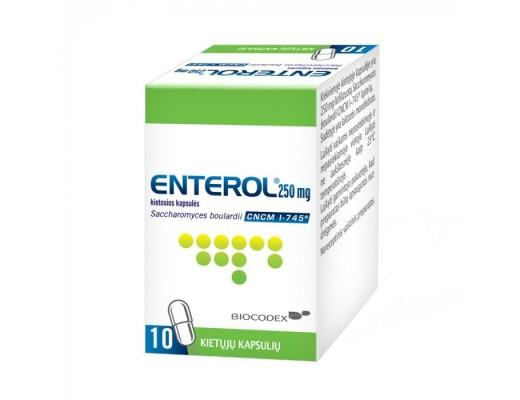 Enterol 250mg kietosios kapsulės, N10