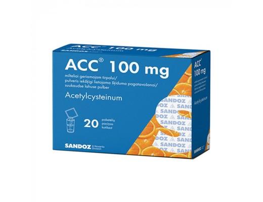 ACC, 3 g, 100mg, milteliai geriamajam tirpalui, N20