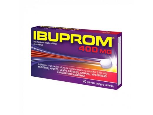 Ibuprom 400mg plėvele dengtos tabletės, N20