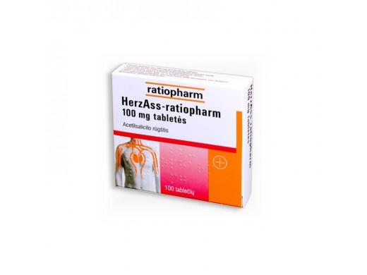 Herz ASS-ratiopharm 100mg tabletės, N100