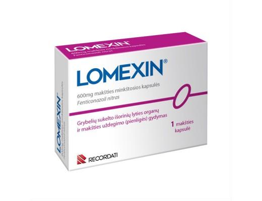 Lomexin 600mg makšties minkštosios kapsulės, N1