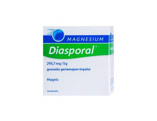 Magnesium - Diasporal 295.7mg/5g granulės geriamajam tirpalui, N20