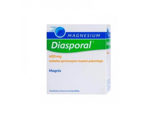 Magnesium Diasporal 400mg milteliai geriamajam tirpalui paketėlyje, N20