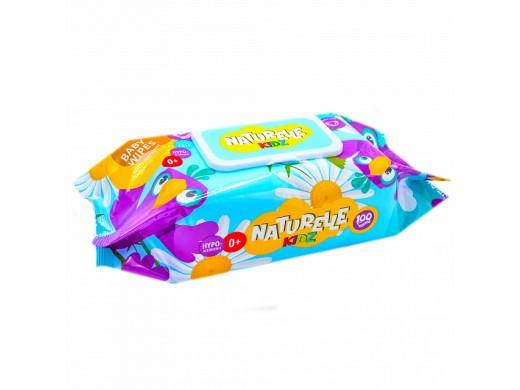 Drėgnos antibakterinės servetėlės vaikams NATURELLE KIDZ su ramunėlėmis