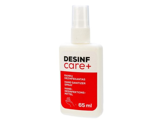 Rankų dezinfekantas DEZINF CARE+ su purškikliu, 65 ml.