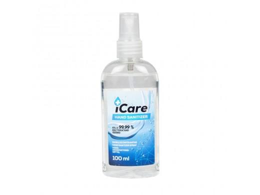 Rankų dezinfekantas iCare su purškikliu, 100 ml.