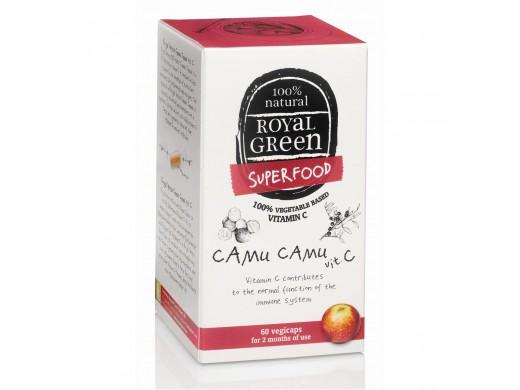 ROYAL GREEN Camu Camu vitaminas C 500 mg. N60