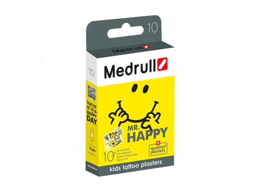 MEDRULL MR. HAPPY vaikiški pleistrai, 10 vnt.