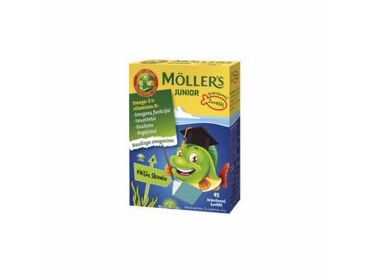 Möller's Junior vaisių skonio kramtomos žuvelės N45