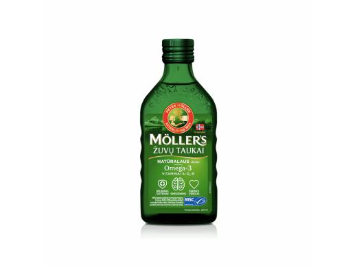 Möller's skysti žuvų taukai natūralaus skonio 250 ml.